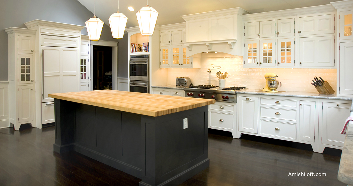 pid_51057-Amish-Turned-Leg-Island-with-Two-Doors-and-Nine-Drawers--300 Amish Kitchen Islands